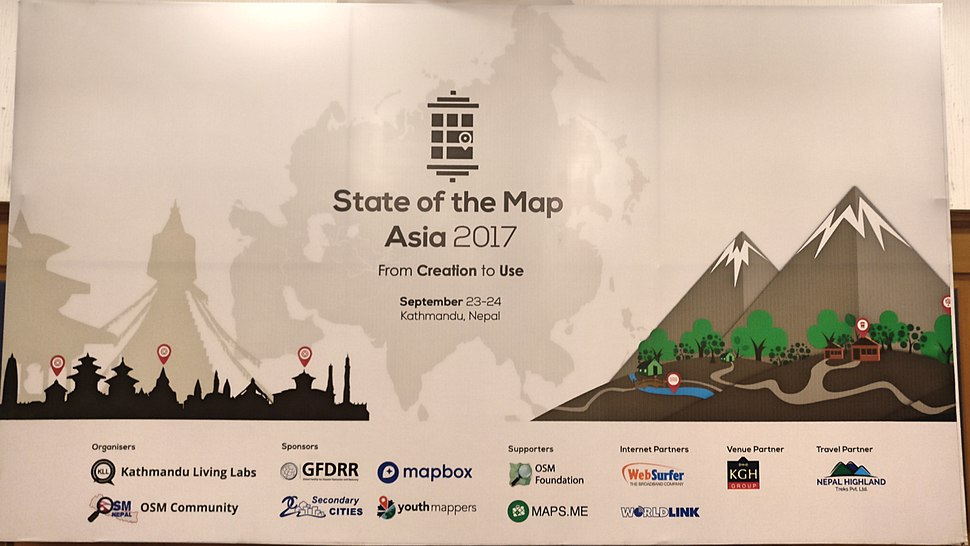 State of the Map Asia 2017 Conference Poster