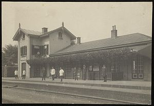 Heerhugowaard railway station - View of the former station, circa 1880.