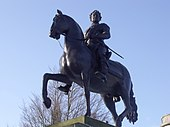 Statue of King George I outside The Barber Institute of Fine Arts.JPG