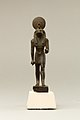 Statuette of Horus, lord of Sekhem (Letopolis) MET X.291 EGDP012277.jpg