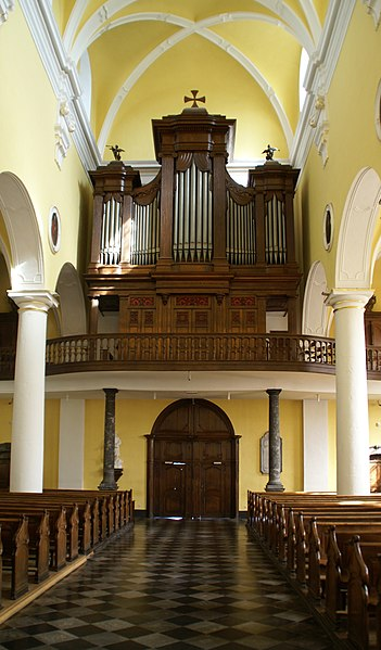 Stavelot (Belgium): Saint Sebastian Church, Organ built by Korfmacher