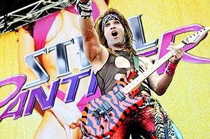 Russ Parrish - Russ Parrish performing with Steel Panther at the Claremont Showgrounds (2012)