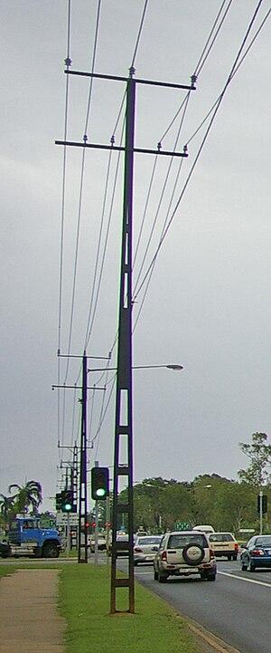 Utility pole - Steel utility pole in Darwin, Australia.