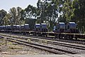 Steel rolls on a freight train on the Main Southern line in Junee.jpg