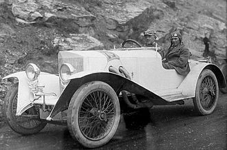"Steiger (automobile company) - Walther Steiger driving a Steiger ""Sport"" 11/55 PS (1922)"