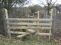 Stile near level crossing near Hilders Lane - geograph.org.uk - 1755483.jpg