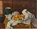 Still Life with Commode, by Paul Cezanne, c. 1887-1888, oil on canvas - Fogg Art Museum, Harvard University - DSC00713.jpg