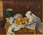Still Life with Commode, by Paul Cezanne, c. 1887-1888, oil on canvas - Fogg Art Museum, Harvard University - DSC00713.jpg