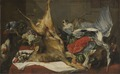 Still Life with Dead Game, a Monkey, a Parrot, and a Dog (Frans Snyders) - Nationalmuseum - 17640.tif