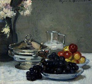 Hughes de Beaumont - Still life with fruit by Hughes de Beaumont