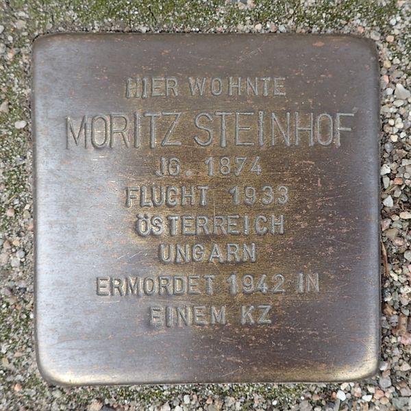 File:Stolperstein Bad Segeberg Lübecker Straße 12 Moritz Steinhof.jpg