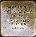 Stolperstein Salzburg, Bronislaw Weja (Kapitelgasse 4).jpg