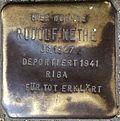 Stumbling block for Rudolf Nethe (Alteburger Straße 11)