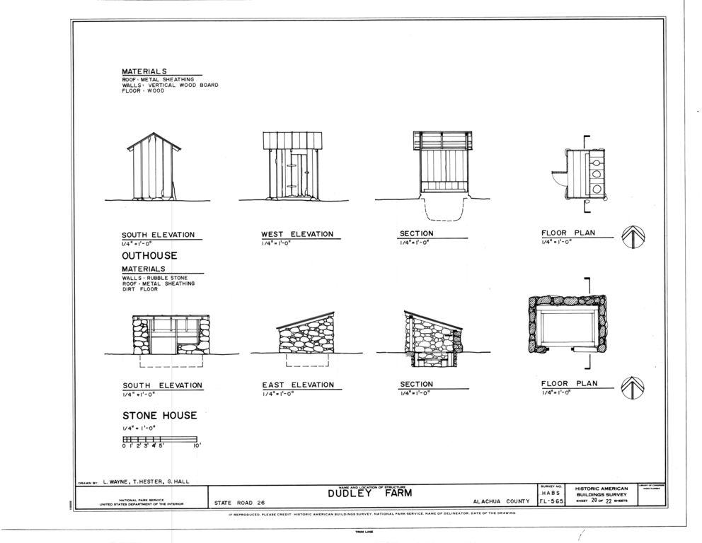 file:stonehouse and outhouse - elevations, floor plans and sections