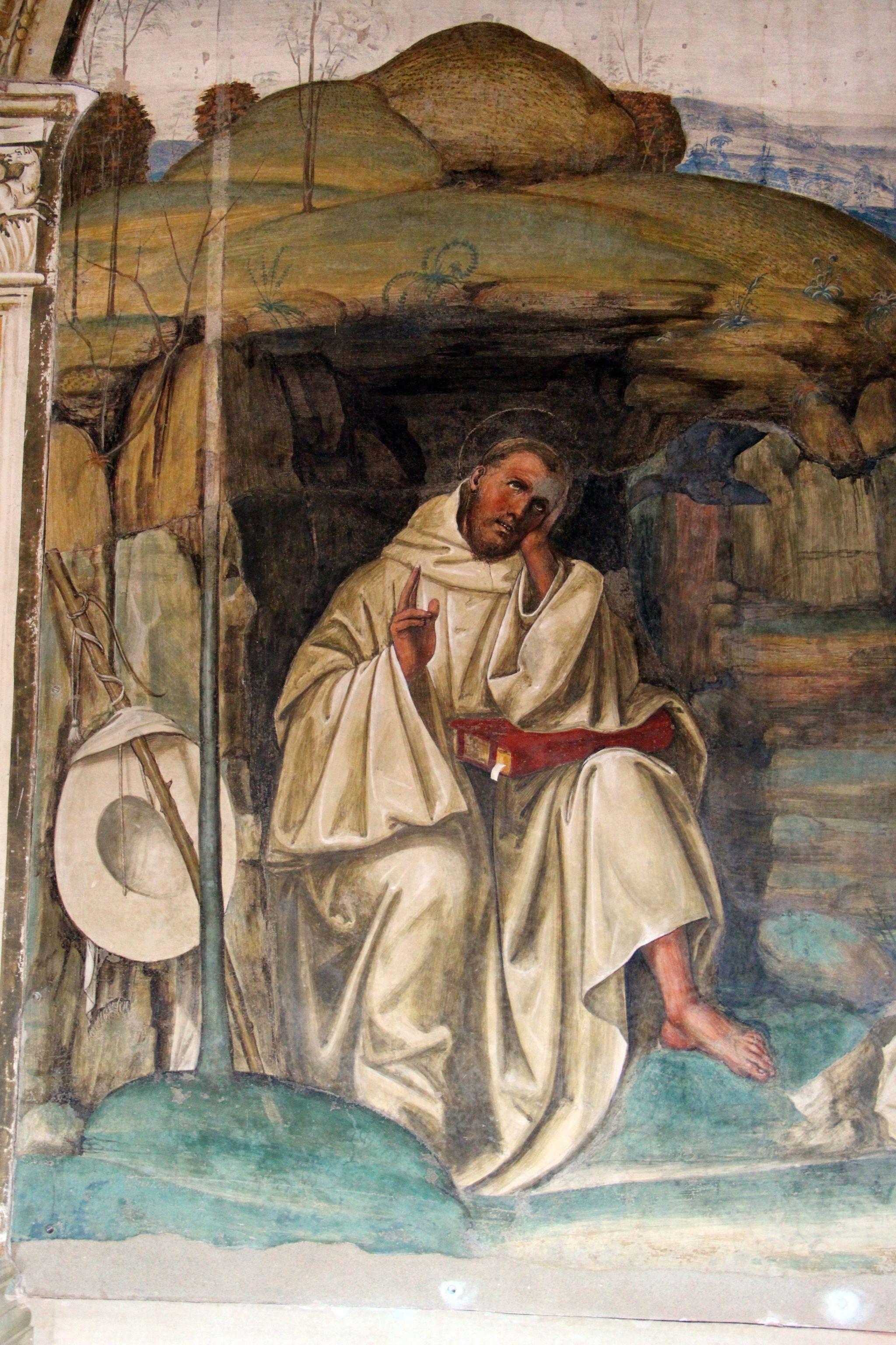 Storie di s. benedetto, 08 sodoma - Come Benedetto tentato d'impurità supera la tentazione 03