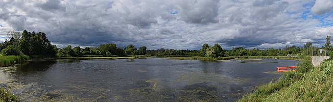 Stouffville Reservoir (Ontario, Canada) before a storm.
