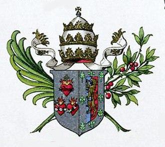 Patriarch of Lisbon - Coat of arms of Patriarch José de Almeida Neto, featuring the papal tiara