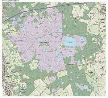 Topografisch kaartbeeld van de Strabrechtse Heide, december 2015.