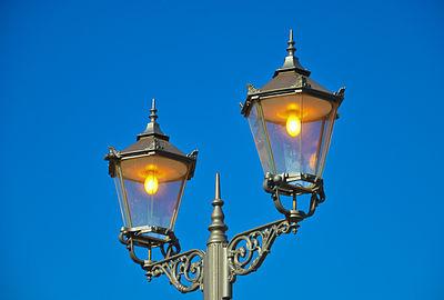 Street lamp hunting lodge Mönchbruch