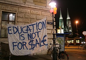 Student protests at the University of Vienna i...