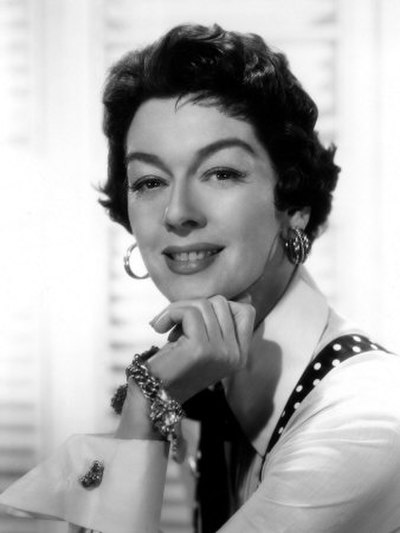 Rosalind Russell, American actress