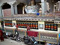 Stupa & prayer wheels. Main street, McLeod Ganj.jpg