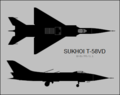 Sukhoi T-58VD two-view silhouette.png