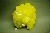 Sulfur with a globular appearance.