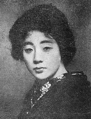 Ryūkōka - Image: Sumako Matsui cropped