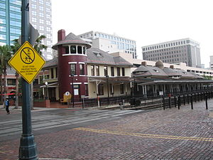 Church Street Station (Orlando) - The Old Orlando Railroad Depot built in 1889 still stands alongside the modern SunRail station