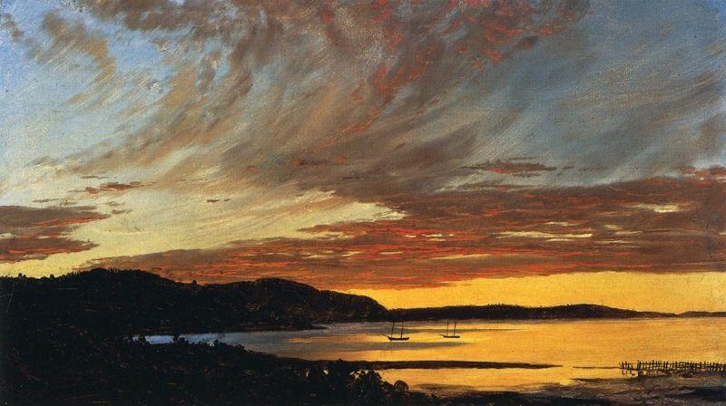 File:Sunset, Bar Harbor Frederic Edwin Church.jpg