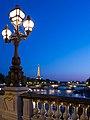 Sunset from the Pont-Alexandre III, Paris July 2013.jpg