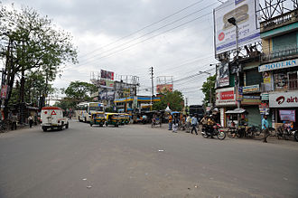 Barrackpore - The Barrackpore Chiriamore is the crossing of the Barrackpore Trunk road and the Surendranath Banerjee Road.