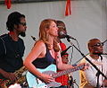 Susan Tedeschi and band at the Appel Farms Arts and Music Festival June 2012.jpg