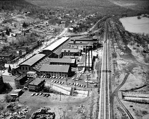 Susquehanna Depot, Pennsylvania - Erie Railroad shops, built 1864-66 along Main and Drinker Streets. The shops were demolished 1980-82.
