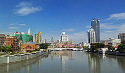Suzhou Creek from Waibaidu Bridge, Shanghai.jpg