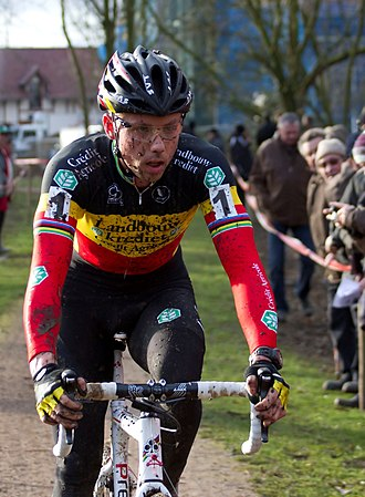 Sven Nys - Nys riding in the 2012 Kasteelcross Zonnebeke