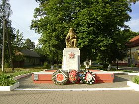 Svietlahorsk. Monument at the train station.JPG