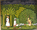 Swami Haridasa with Tansen and Akbar at Vrindavana - Google Art Project.jpg