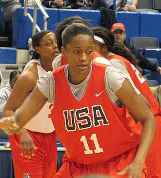 Swin Cash - Cash at USA National team versus USA Select team scrimmage.