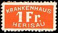 Switzerland Herisau 1889 revenue 1Fr.jpg