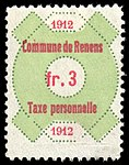 Switzerland Renens 1912 revenue 6 3Fr - 28.jpg