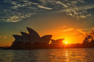 Sydney Opera House - The Sydney Opera House during sunrise
