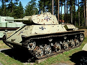 T-50 tank - T-50 with Finnish markings