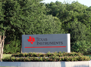 Texas Instruments - Sign at TI's Dallas headquarters