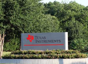 Texas Instruments - Sign at TI's Dallas headquarters