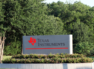 Willis Adcock - Sign at a Texas Instruments facility