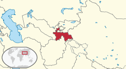 Tajikistan in its region.svg