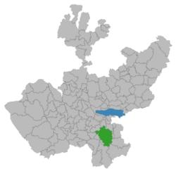 Vị trí của đô thị trong bang Jalisco