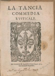 La tancia, 1612